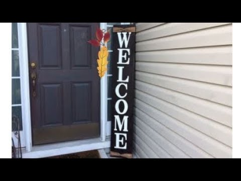 Diy Welcome Sign Quick And Easy Youtube