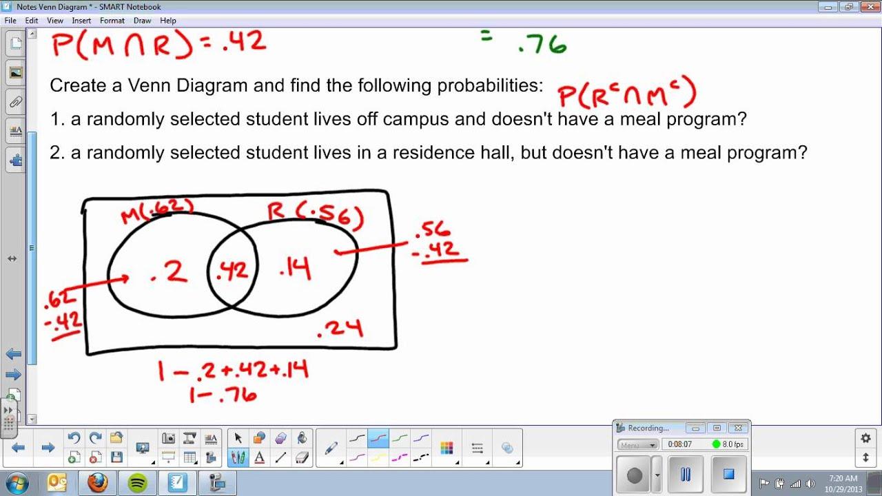 Venn Diagram and Addition Rule  YouTube