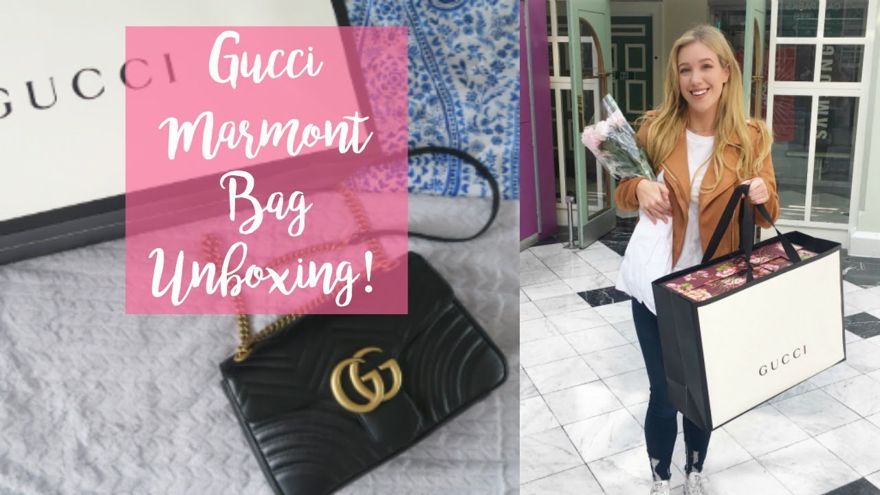 c40cdcdef739 My First Designer Handbag! Gucci Marmont Unboxing! // WhatSheDoesNow ...