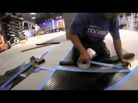 Quick Guide to Installing Rubber Flooring Using Double-Sided Tape