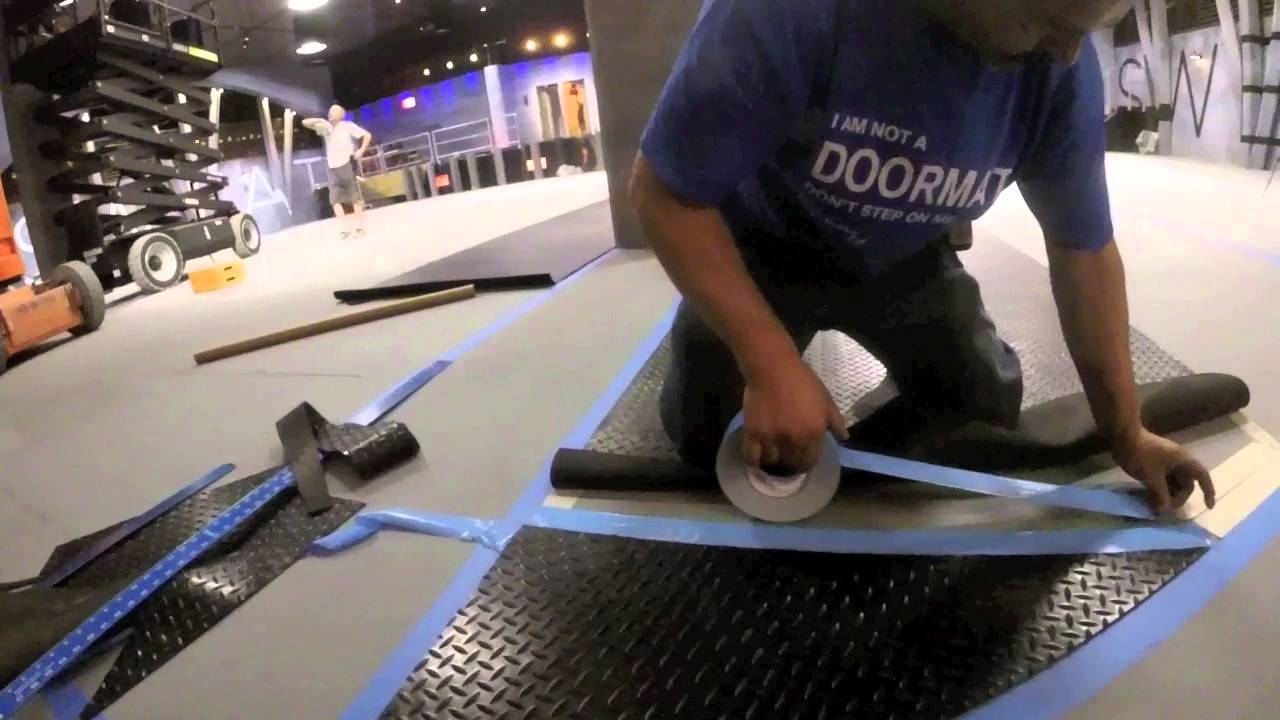 Quick Guide To Installing Rubber Flooring Using Double Sided Tape