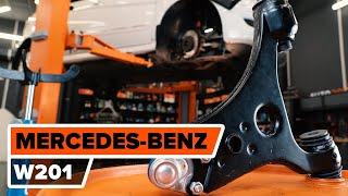 Como substituir a braço inferior de suspensão dianteira no MERCEDES BENZ 190 W201 [TUTORIAL]