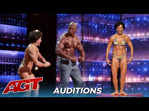 Dr. Josefina Monasterio: 74-Year-Old Body Builder FLEXES Her Muscles With Terry Crews