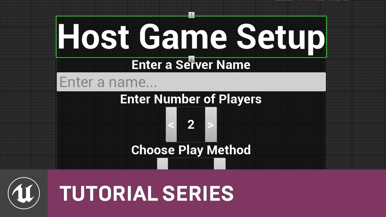 Blueprint multiplayer host menu design 06 v411 tutorial blueprint multiplayer host menu design 06 v411 tutorial series unreal engine malvernweather Choice Image