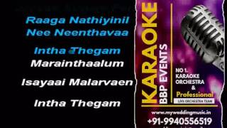 Sangeetha Megam Then HQ Tamil Video Karaoke (BBP Karaoke)