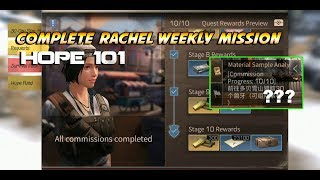 LifeAfter - Weekly Quest Hope 101 - Complete Rachel 10/10 Mission