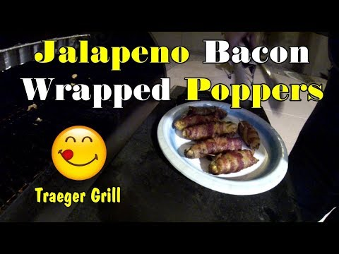 Jalapeno Bacon Wrapped Poppers, on the Traeger Grill   Traeger Grill Day   #traegergrill #recipe