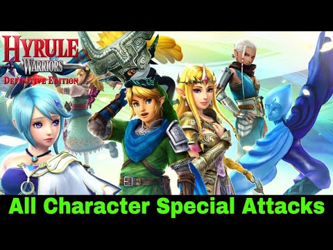 Hyrule Warriors - All Character Special Attacks (Switch 2018)