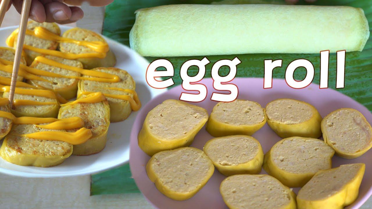 Chicken egg roll sehat, enak & mudah
