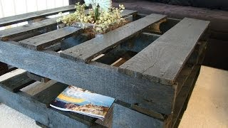 How to Make a Coffee Table Out of Pallets Thumbnail
