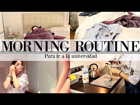MORNING ROUTINE para ir a la UNIVERSIDAD | SIILVIA123BELLA