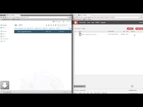 Dropbox and Hightail, upload and download