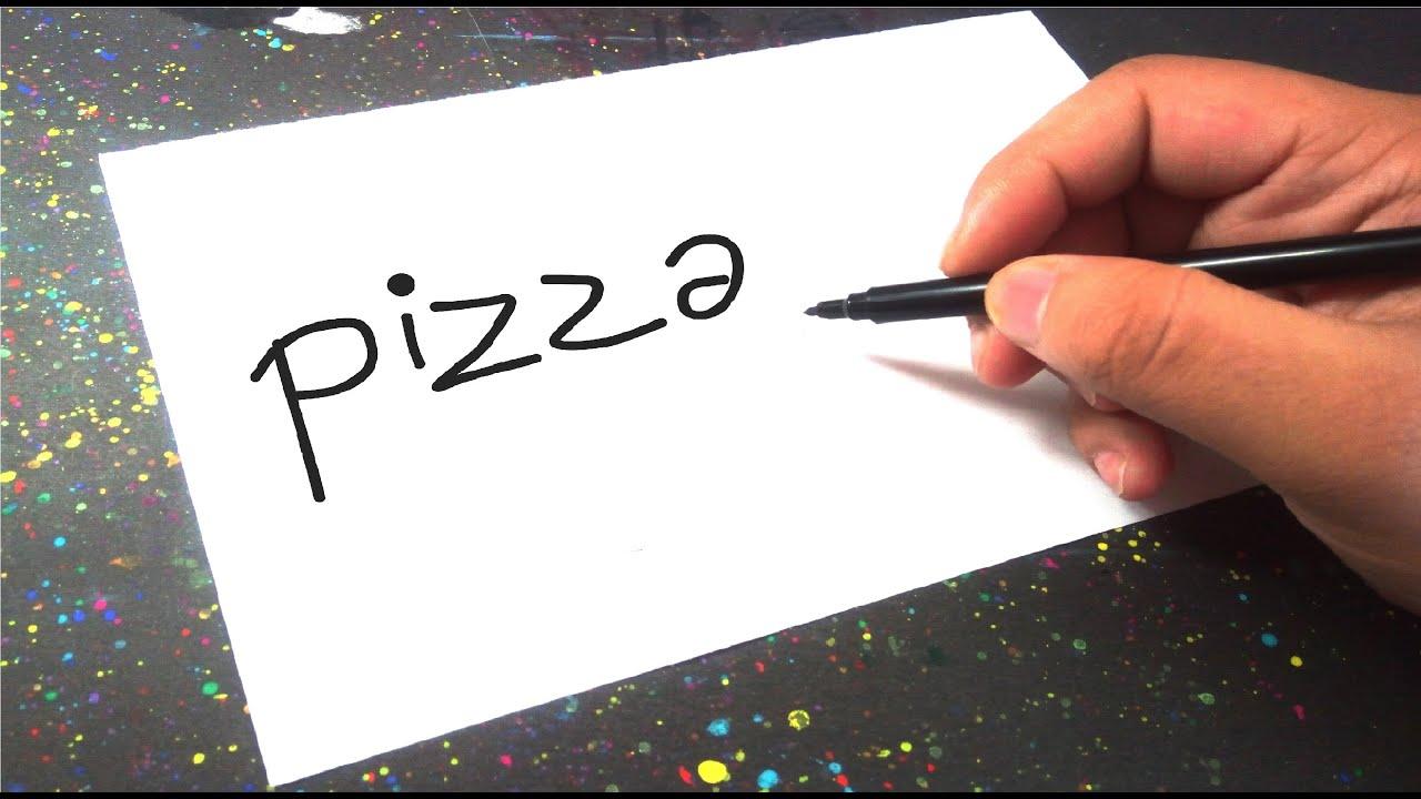 Nasıl Çizilir? – Pizza kelimesi nasıl çizgi film karakterine dönüştürülür? – How to draw?