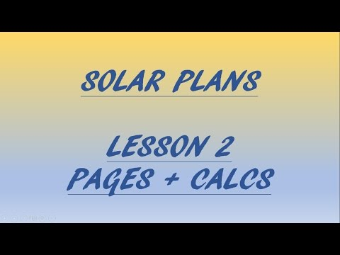 LESSON 2 - How to draft / design solar plans for permit - PAGES + CALCULATIONS