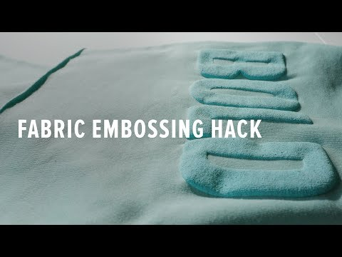 Embossing - How To Emboss Fabric With Screen Printing