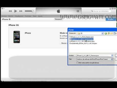 Cargar software iphone 2g, 3g, 3gs, 4, 4s, 5