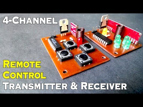 Homemade 4 Channel Wireless RC Car, Boat, Helicopter RF Transmitter & Receiver