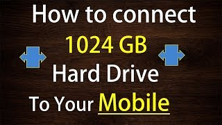 How to connect external Hard drive with mobile phone,complete solution in Hindi.