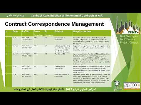 21 PPMC1609 Contracts Administration for Government Contracts, Engr  Hisham El Nadi