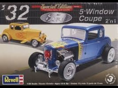 6:18 KIT  Revell 32 Ford 5 Window Coupe 2 n 1