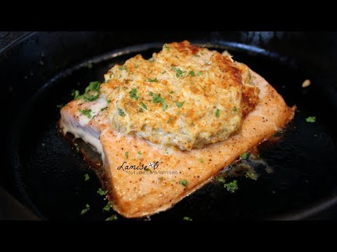 Stuffed Salmon With Real Crab Meat Recipe | Easy Salmon Recipe | Episode 199