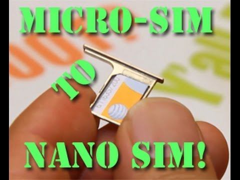 How To Cut Micro Sim To Nano Sim Youtube