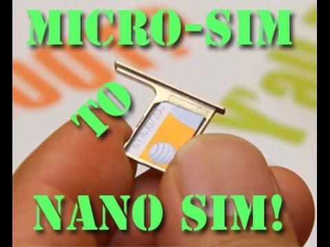 How to Cut Micro SIM to Nano SIM! - YouTube - micro sim template