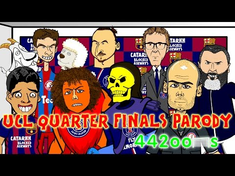 🏆Bayern Munich vs FC Porto 6-1 & Barcelona v PSG 2-0🏆Champions League Cartoon Quarter Final Parody