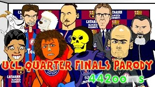 vuclip 🏆Bayern Munich vs FC Porto 6-1 & Barcelona v PSG 2-0🏆Champions League Cartoon Quarter Final Parody