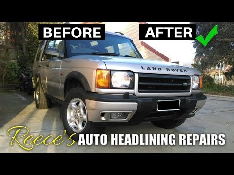 LAND ROVER Disco 2 SAGGY ROOF LINING REPAIR — BEFORE & AFTER — Adelaide SA