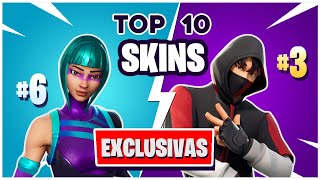 🏆 THE 10 BEST SKINS *EXCLUSIVE* in Fortnite!