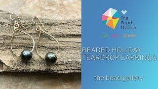 Beaded Holiday Teardrop Earrings at The Bead Gallery