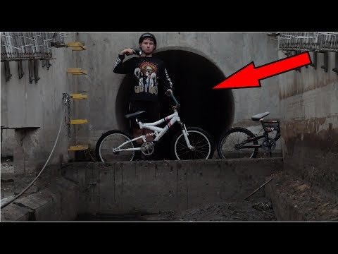 Riding In UNDERGROUND TUNNELS On Kids Bikes