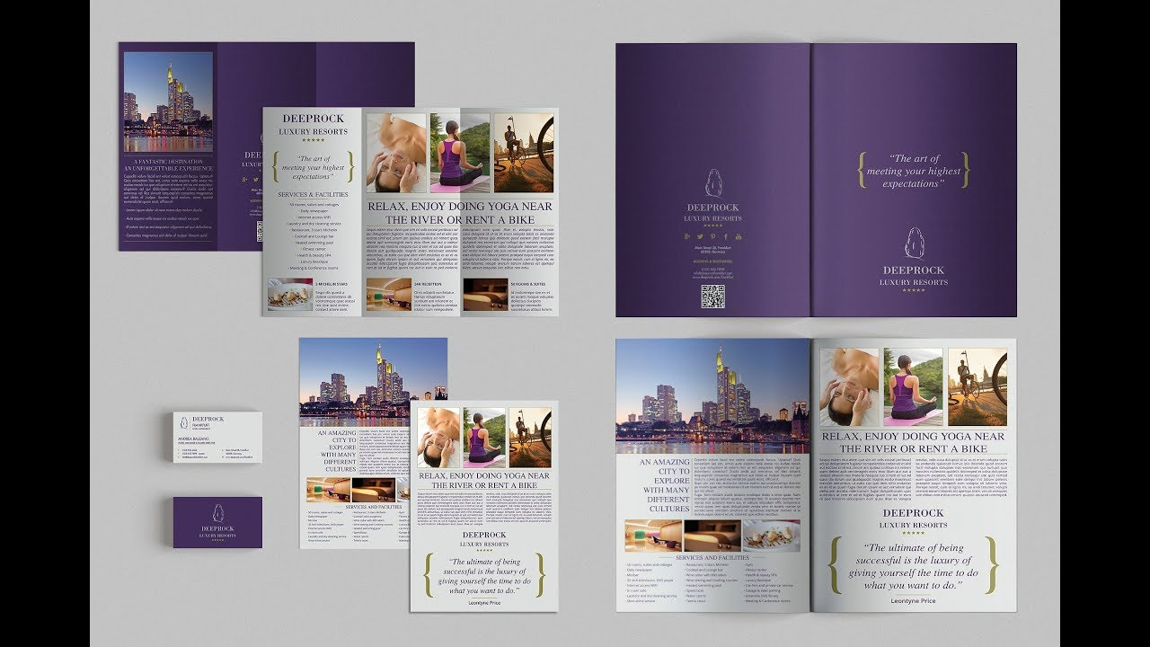 How To Design Trifold Brochure Page Setup Layout Design In Adobe