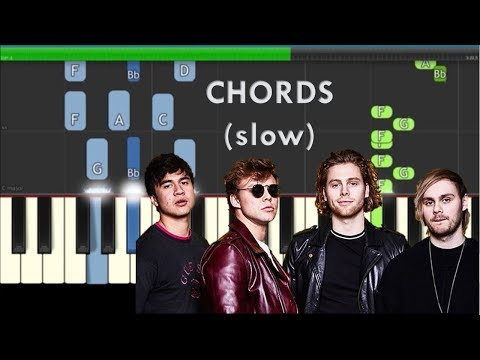 5 Seconds Of Summer Youngblood Slow Easy Piano Chords Tutorial