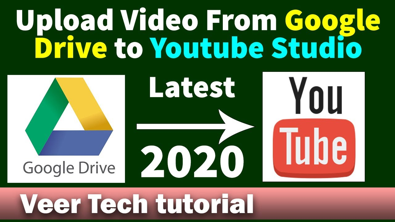 Upload Video From Google Drive To Youtube Studio In 2020 Youtube