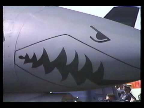 1991 Paine Field Airshow Everett, WA B-1 Bomber A-10 F-15 F-16 FA-18
