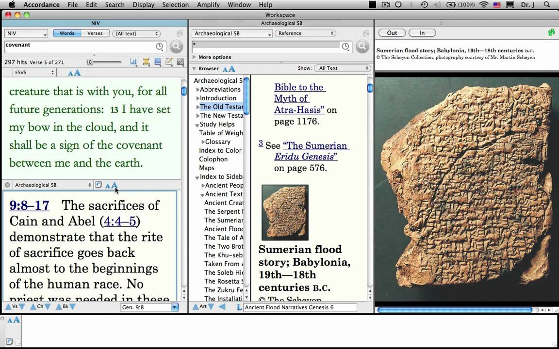 Geo archaeological study bibles