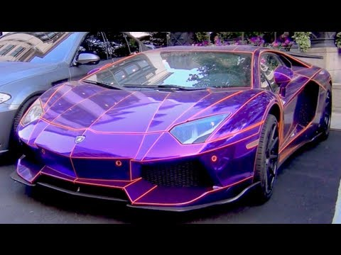 Lamborghini Cars Photos Wallpapers Chrome Purple And Orange Lb Performance Aventador Pimped