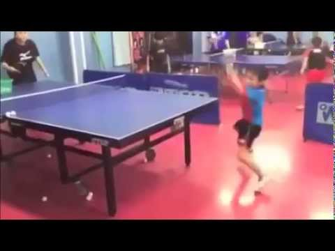 Amazing 7 year old Table Tennis player from Japan!