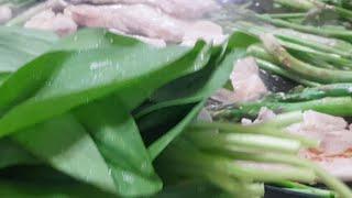 산마늘먹방  아스파라거스