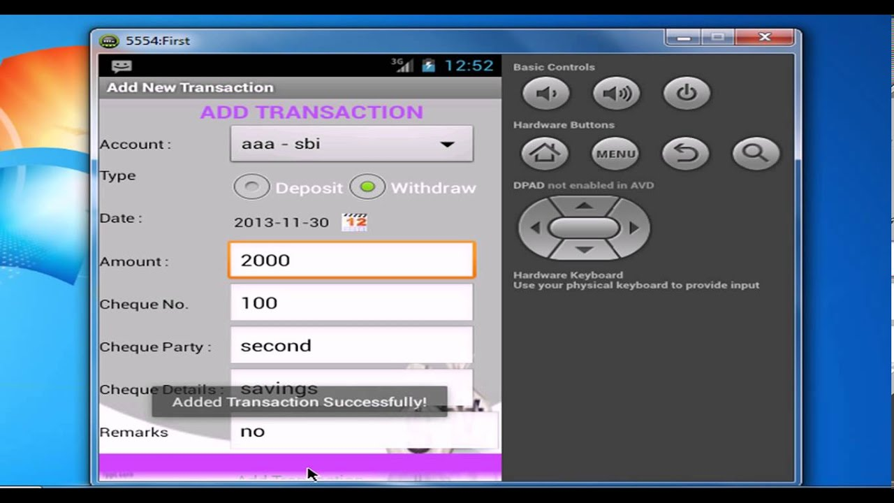 bank account tracker for android youtube