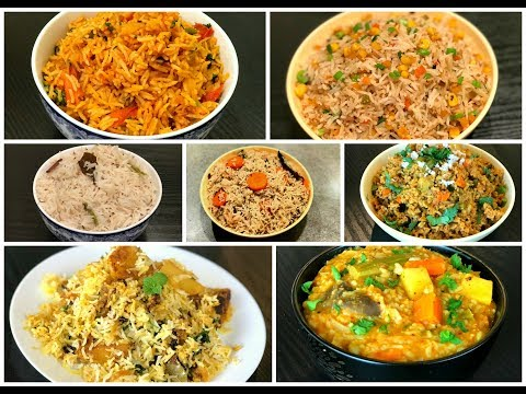 Variety Rice Recipes  | Lunch box Recipes | Rice Varieties | Rice Recipes | Recipe Book