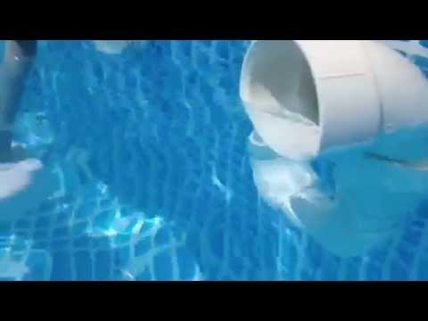 Diy Swimming Pool Surface Skimmer Youtube