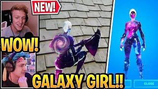 "Streamer GETS the *NEW* ""GALAXY GIRL"" SKIN in Fortnite (Galaxy Cup Tournament)"