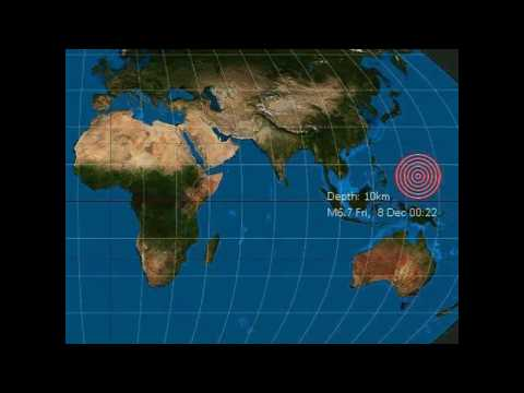 Strong mag. 6.7 earthquake - W. Caroline Islands, Micronesia on Friday, 8 December 2017