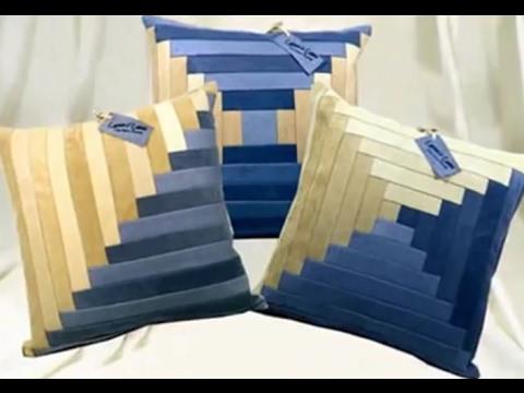 Декоративные подушки своими руками из джинсов