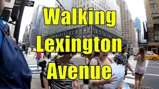 ⁴ᴷ Walking Tour of Lexington Avenue, Manhattan, NYC from 59th Street to 14th Street