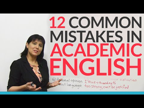 12 Common Errors in Academic English – and how to fix them!