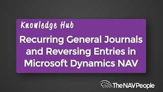 Recurring General Journals and Reversing Entries